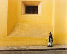 Lady, Yellow Wall